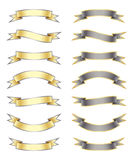 De Banners van het lint plaatsen 2 royalty-vrije illustratie