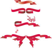 De Banners van het Lint van Kerstmis Royalty-vrije Stock Foto's