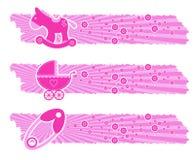 De banners van het Meisje van de baby Stock Foto's