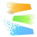 De banners van het mozaïek in perspectief Stock Illustratie