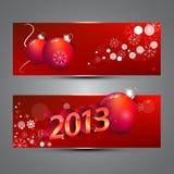 De banners van het nieuwjaar Stock Fotografie