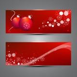 De banners van het nieuwjaar Stock Foto's