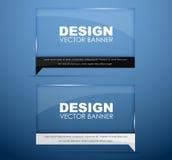 De banners van het ontwerpglas met tekst Royalty-vrije Stock Fotografie