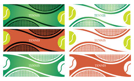 De banners van het tennis stock illustratie