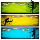 De banners van het voetbal Stock Afbeeldingen