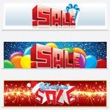 De Banners van het Web van de Verkoop van Kerstmis Stock Afbeelding