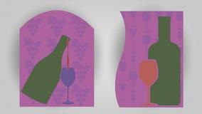 De banners van het wijnthema Royalty-vrije Stock Afbeeldingen