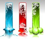 De banners van Kerstmis. Stock Fotografie
