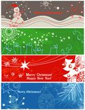 De banners van Kerstmis stock illustratie