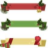 De Banners van Kerstmis Royalty-vrije Stock Foto's