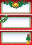 De banners van Kerstmis Royalty-vrije Stock Afbeelding