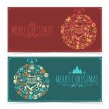 De banners van Kerstmis Stock Afbeeldingen