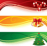 De banners van Kerstmis Stock Fotografie