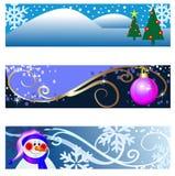 De banners van Kerstmis Stock Afbeelding