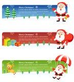 De Banners van Kerstmis: Kerstman 2 Stock Foto