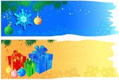 De banners van Kerstmis met ruimte Royalty-vrije Illustratie