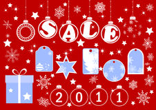 De banners van Kerstmis. vector. Stock Fotografie