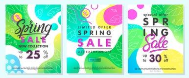 De banners van de de lenteverkoop stock afbeeldingen