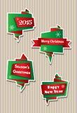 De banners van origamikerstmis Royalty-vrije Stock Afbeeldingen