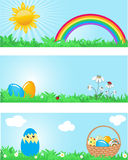 De banners van Pasen. Stock Afbeelding