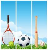 De banners van sporten Stock Fotografie