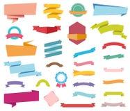De Banners van stickersetiketten Stock Afbeeldingen