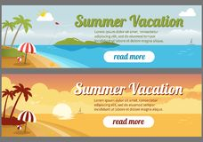 De banners van de de zomerreis Royalty-vrije Stock Fotografie