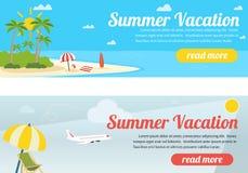De banners van de de zomerreis Stock Foto's
