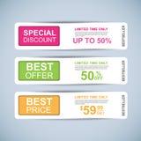 De banners vectorontwerp van de inzamelingsverkoop Royalty-vrije Stock Afbeelding