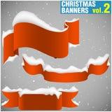 De Banners vol.2 van Kerstmis royalty-vrije illustratie