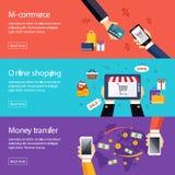 De banners voor Web ontwerpen Digitale Marketing, Levering royalty-vrije illustratie
