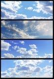 De bannersinzameling van de hemel Stock Fotografie