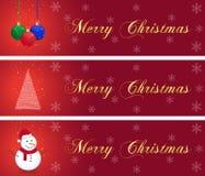 De bannersinzameling van Kerstmis Royalty-vrije Stock Afbeeldingen