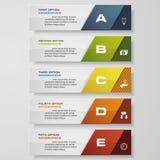 De bannersmalplaatje van het ontwerp schoon aantal Vector Royalty-vrije Stock Afbeeldingen