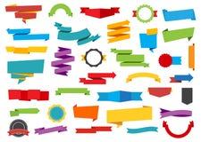 De Bannersmarkering van etikettenstickers Stock Foto's