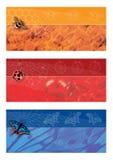 De bannersreeks van de zomer Royalty-vrije Stock Afbeelding