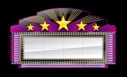 De bannerzwarte van de markttent royalty-vrije illustratie