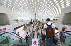 ` De bao de Shenzhen un intérieur d'aéroport international Images libres de droits