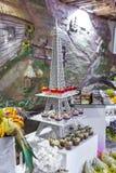 De bar en de vruchten van het Eddingssuikergoed met marshmellows stock afbeeldingen