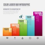 De Bar Infographic van de kleurenladder Royalty-vrije Stock Foto's