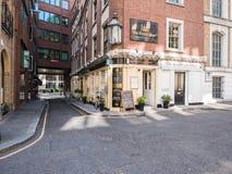 De bar van de Centrumpagina, Knightrider-Hof, St Paul, Londen Royalty-vrije Stock Afbeeldingen