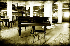 De bar van de jazzpiano Stock Afbeelding