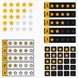 De bar van de sterclassificatie Reeks elementen voor ontwerpinterface van website of app Vector vector illustratie