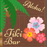 De Baraffiche Tiki Bar Aloha van Hawaï Stock Foto's