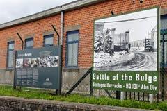 De Barakken van Bastogne Stock Foto