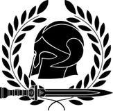 De barbaarse helm van de fantasie met lauwerkrans royalty-vrije illustratie