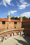De barbacane in Krakau Royalty-vrije Stock Foto