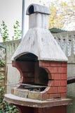 De barbecue van de baksteentuin Stock Fotografie
