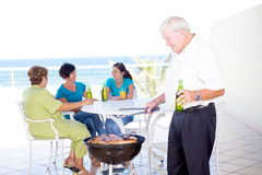 De barbecue van de familie Royalty-vrije Stock Foto