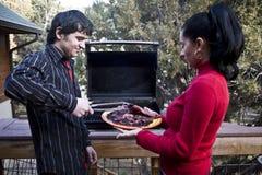 De Barbecue van de familie Stock Fotografie